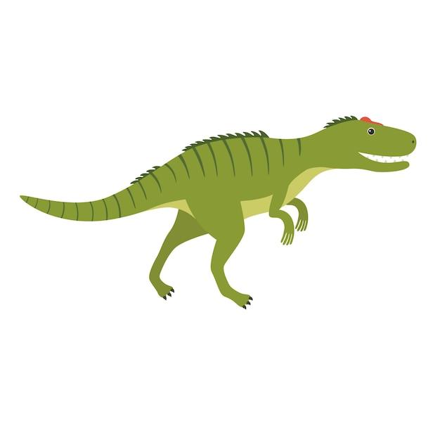 Аллозавр. доисторическое животное. векторная иллюстрация динозавра изолированы Premium векторы