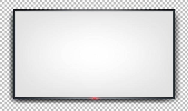 Белый баннер на прозрачном фоне. Premium векторы
