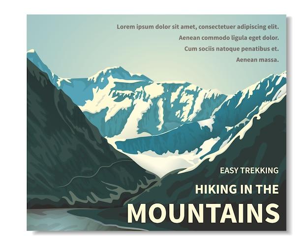 山の風景 Premiumベクター