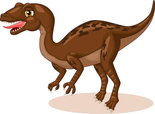 Маленький тиранозавр рекс мультфильм Premium векторы