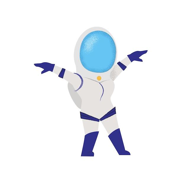 女性宇宙飛行士を歩きます。重力、探検家、ミッション 無料ベクター
