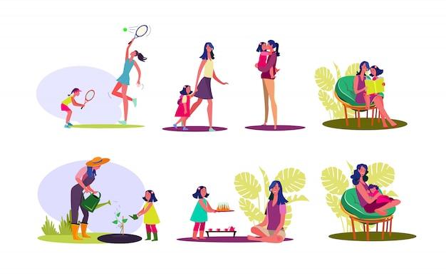 Набор для счастливого материнства Бесплатные векторы