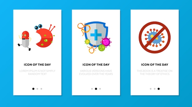 抗菌保護シンボル入りアプリ画面 無料ベクター