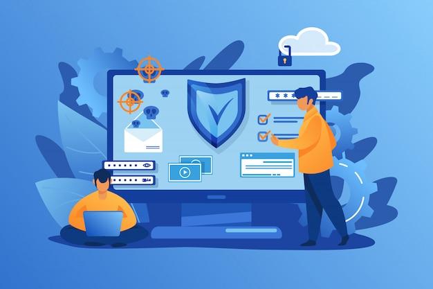 Персональная цифровая безопасность Бесплатные векторы