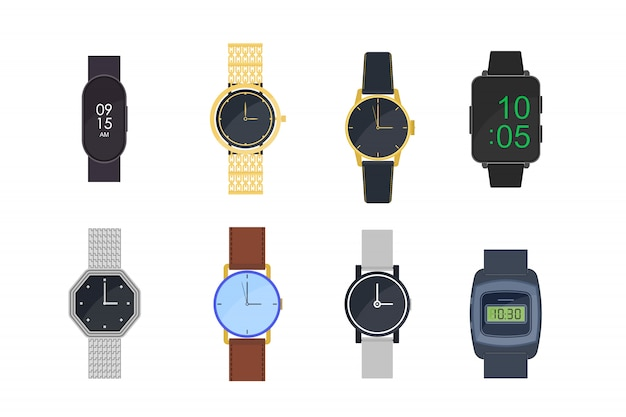 Набор наручных часов Бесплатные векторы