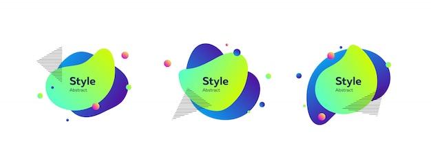 Динамичные стильные абстрактные фигуры Бесплатные векторы