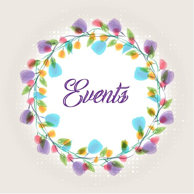 紫色の花の結婚式の招待カード Premiumベクター