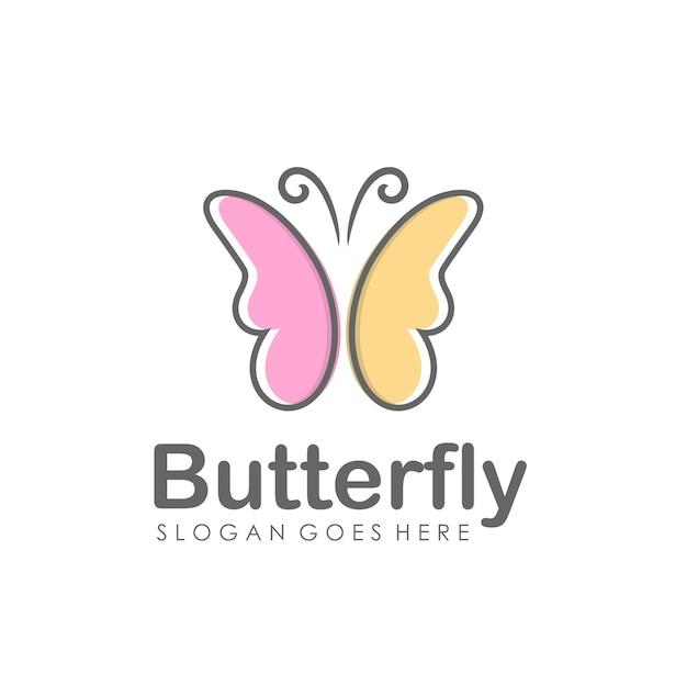 抽象的な蝶のロゴデザイン Premiumベクター