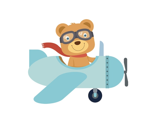 Медвежонок в самолете картинки