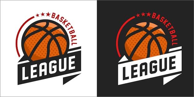バスケットボールのロゴのベクトル図 Premiumベクター