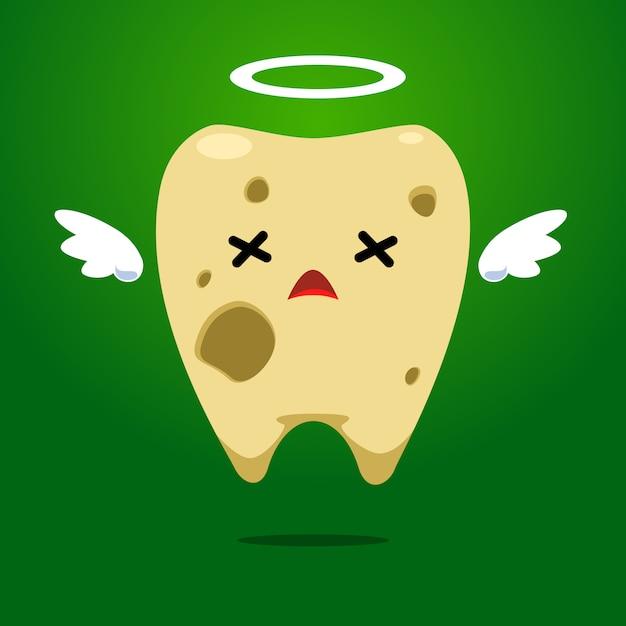ハローリングで黄色い歯を腐らせる Premiumベクター