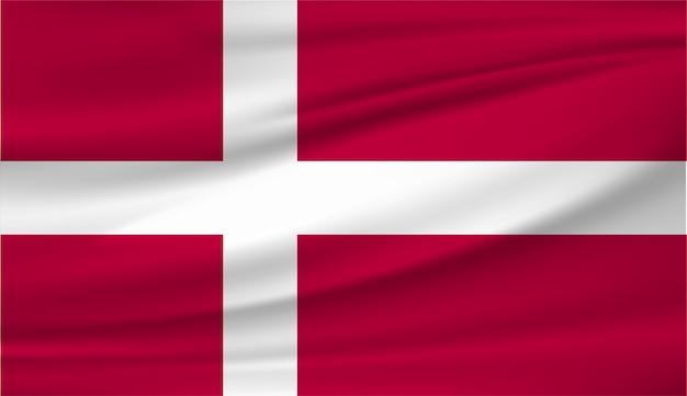 デンマーク国旗 Premiumベクター