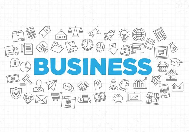 創造的なビジネス戦略の背景の図 Premiumベクター