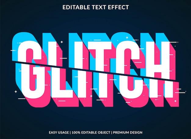 Глюк текстовый эффект Premium векторы