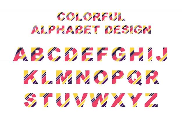 カラフルなアルファベット Premiumベクター