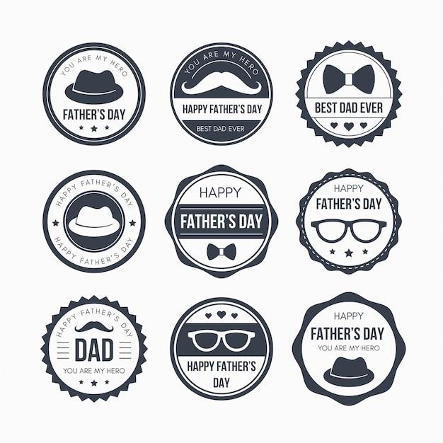 День отцов дизайн зубов Premium векторы