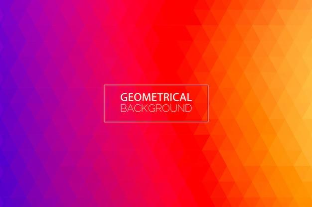 モダンな幾何学的なパープルオレンジ色の背景 Premiumベクター