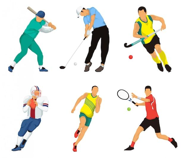 人気のあるスポーツのベクトル図 Premiumベクター