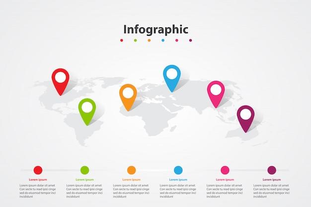 Карта мира инфографики, положение информационного плана транспортного сообщения Premium векторы