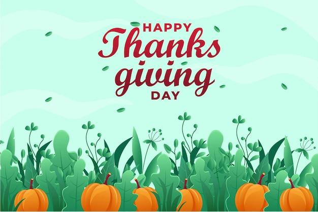 感謝祭のグリーティングカード Premiumベクター