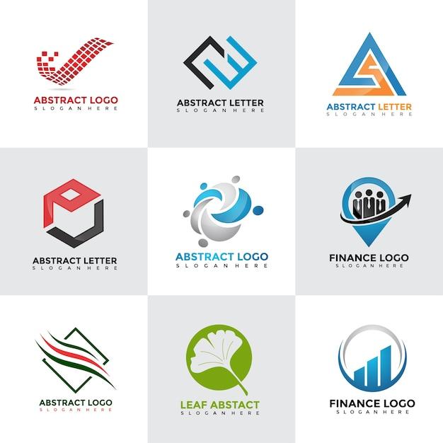 現代のロゴデザインテンプレートセット Premiumベクター