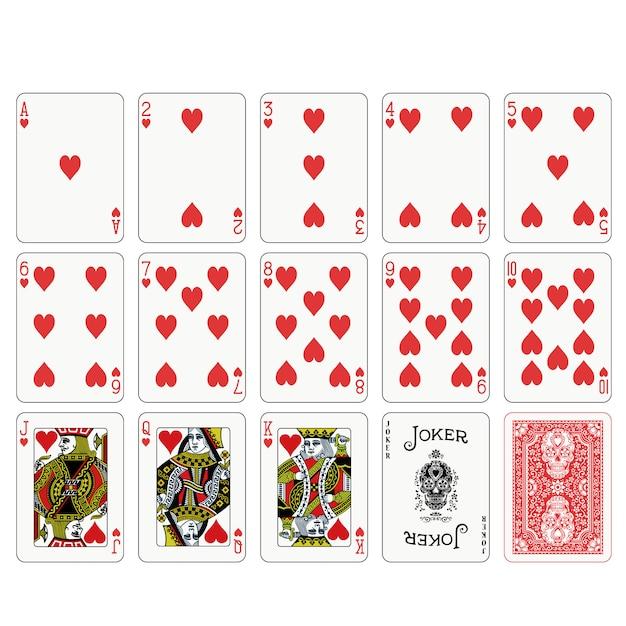 ポーカートランプデザイン Premiumベクター