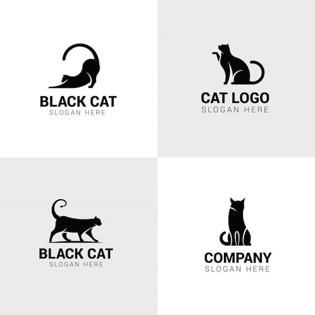 猫のロゴのセット Premiumベクター