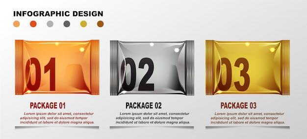 インフォグラフィックデザインテンプレート。 Premiumベクター
