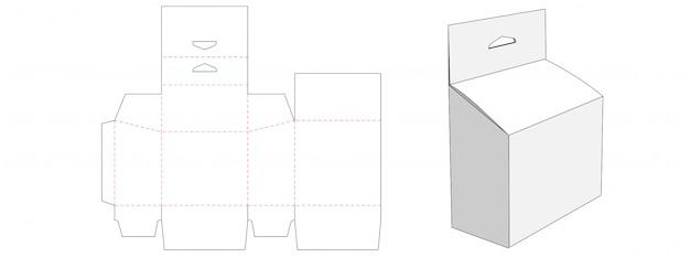 Упаковка с дизайном шаблона вырубного отверстия Premium векторы