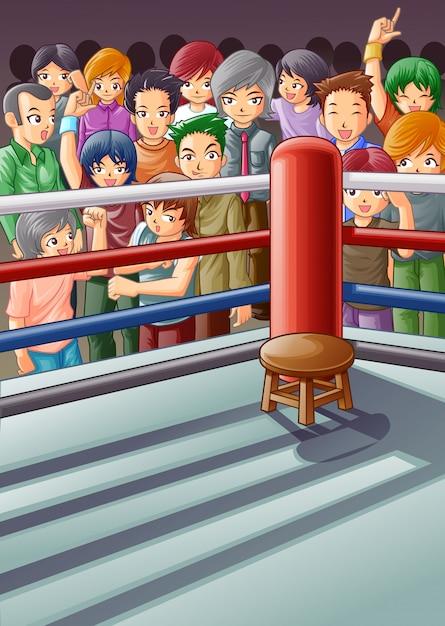 Бокс этап. Premium векторы