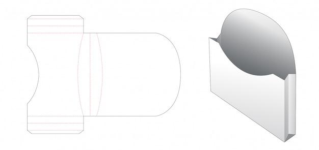 Картон хлебный контейнер высечки шаблон Premium векторы
