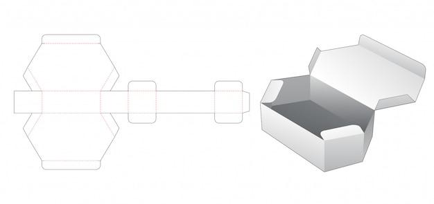 Картон гексагональной коробки высечки шаблон Premium векторы
