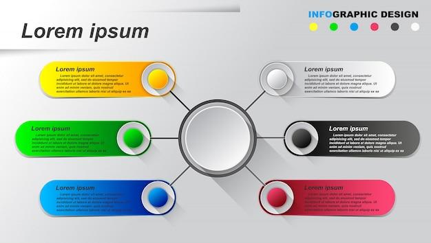 情報グラフィックテンプレート。 Premiumベクター