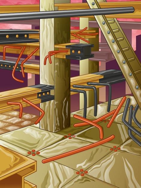 廃鋼工場 Premiumベクター