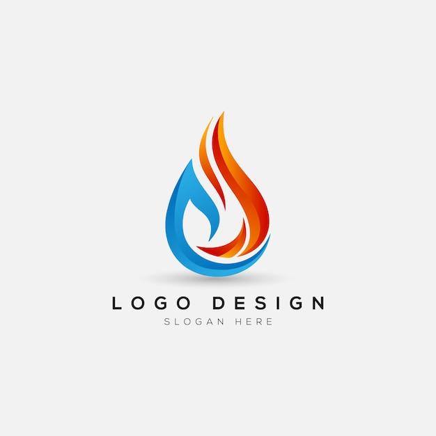 Шаблон логотипа абстрактный огонь Premium векторы
