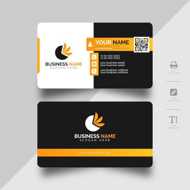 Современный корпоративный шаблон визитной карточки Premium векторы