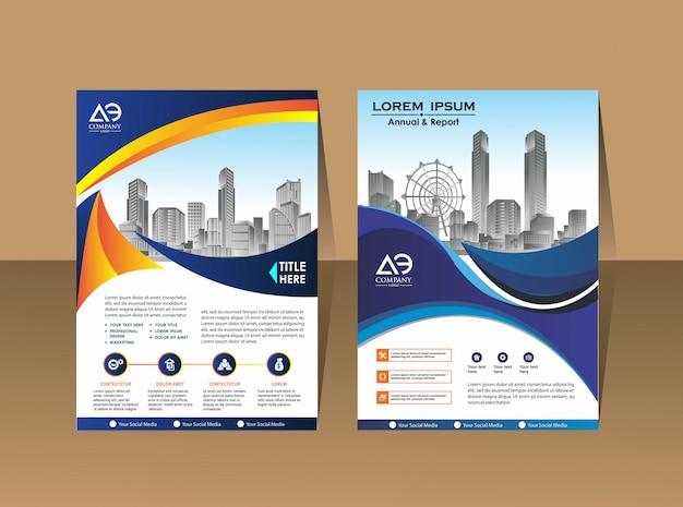 Брошюра дизайн шаблона макета обложки Premium векторы