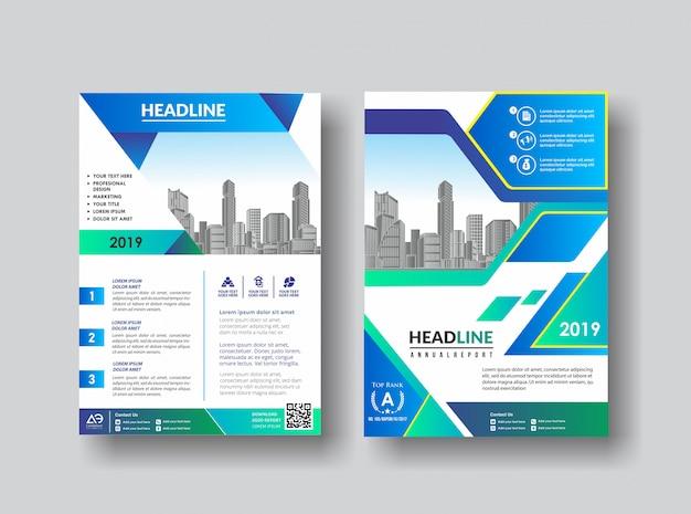 Простой макет обложки брошюры каталог флаер для фона Premium векторы