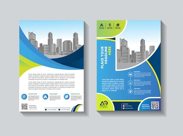 Бизнес брошюра дизайн флаера обложка годового отчета Premium векторы