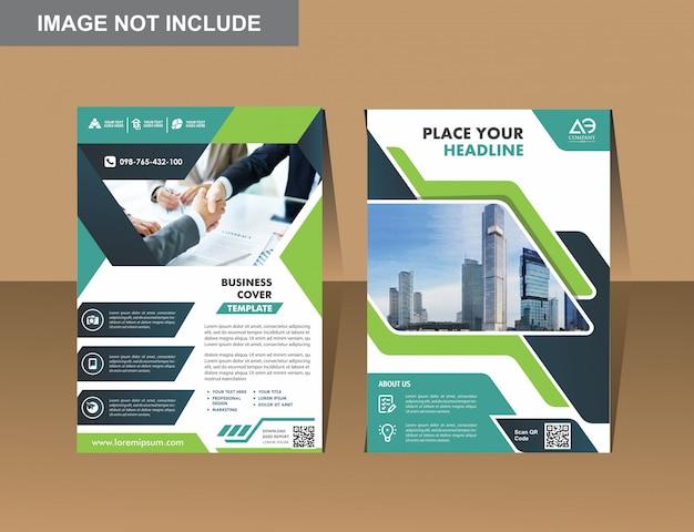 Вектор бизнес листовки дизайн шаблона компании профиль Premium векторы