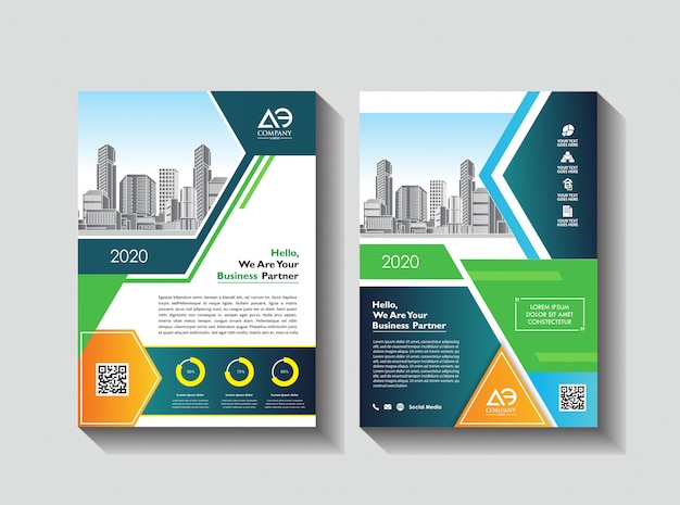 イベントのための創造的なカバーレイアウトパンフレット雑誌カタログチラシ Premiumベクター