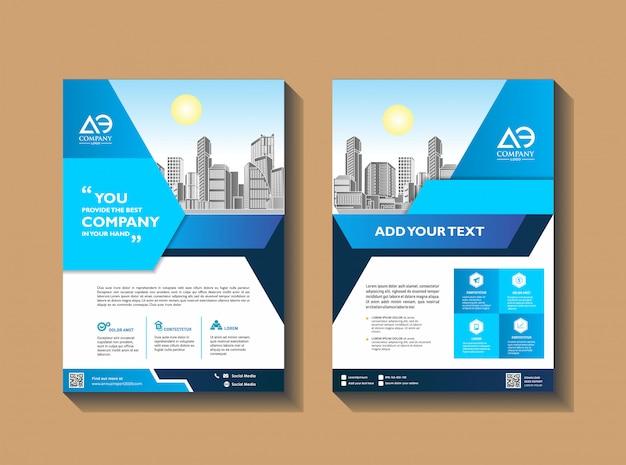 Бизнес брошюра шаблон листовки афиша журнал годовой отчет Premium векторы