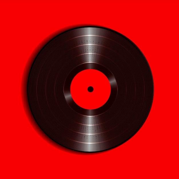 カバーモックアップでリアルなビニールレコード。 Premiumベクター
