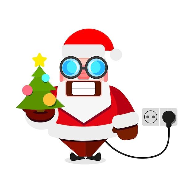 クリスマスサンタクロース電気 Premiumベクター
