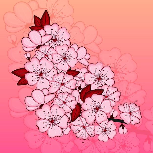 桜の花 Premiumベクター
