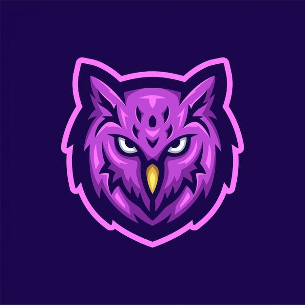 フクロウのロゴ Premiumベクター
