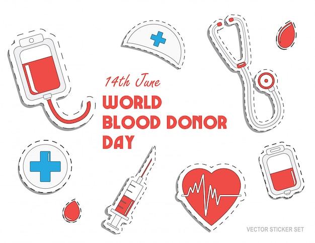 Всемирный день донора крови Premium векторы