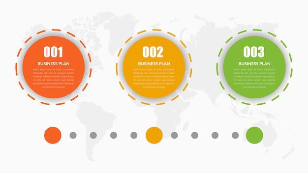 Круг элемент дизайна инфографики хронология Premium векторы