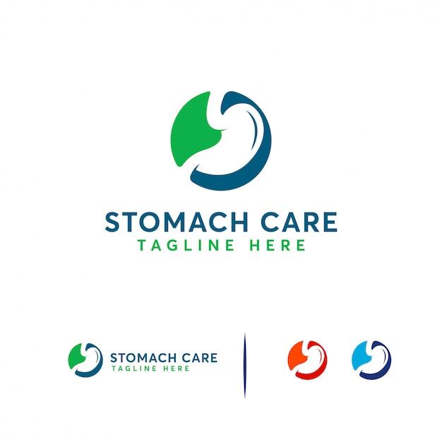 胃のケアのロゴ Premiumベクター