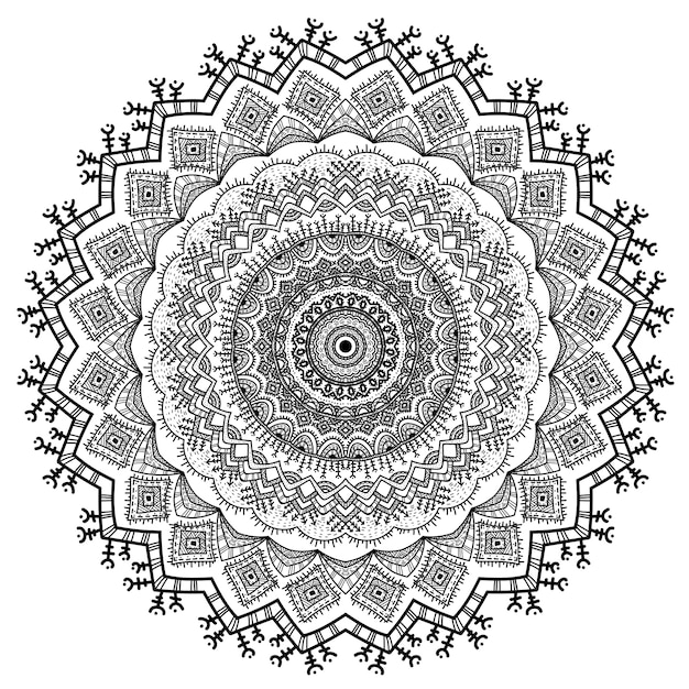 Векторные орнаменты природы мандалы. Premium векторы